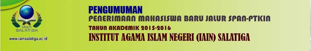 Pengumuman Penerimaan Mahasiswa Baru jalur SPAN-PTKIN tahun 2015-2016