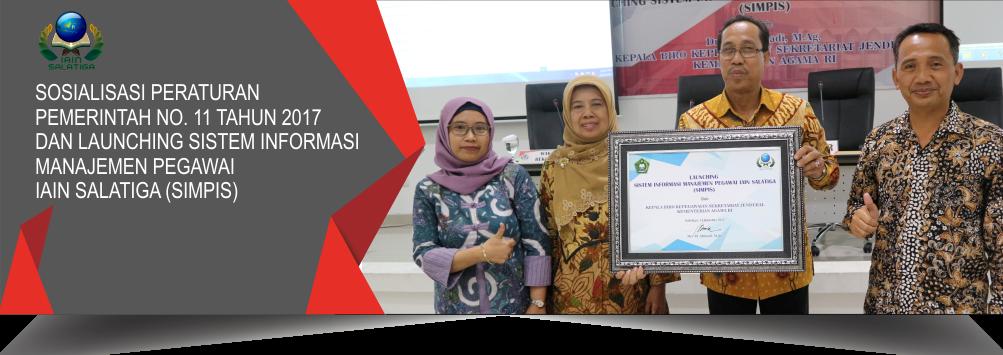 Launching Sistem Informasi Manajemen Pegawai IAIN Salatiga (SIMPIS)